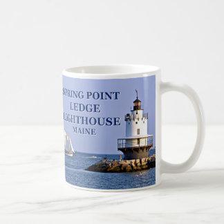 Frühlings-Punkt-Leisten-Leuchtturm, Maine-Tasse Kaffeetasse