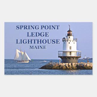 Frühlings-Punkt-Leisten-Leuchtturm, Rechteckiger Aufkleber