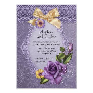 Frühlings-Rosen-Geburtstag 12,7 X 17,8 Cm Einladungskarte