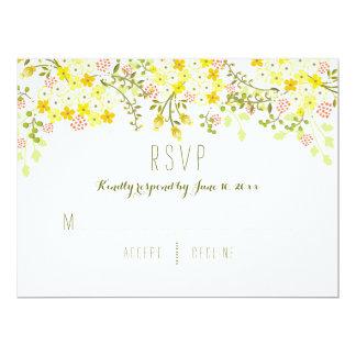 Frühlings-Ruhm-Gelb-Blumenhochzeits-Einladung 16,5 X 22,2 Cm Einladungskarte