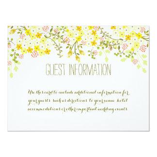 Frühlings-Ruhm-Gelb-Wedding Info-Blumenkarte 16,5 X 22,2 Cm Einladungskarte