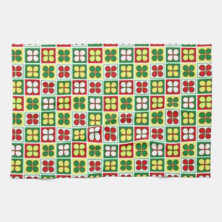 Frühlings-Salat-Muster Handtuch