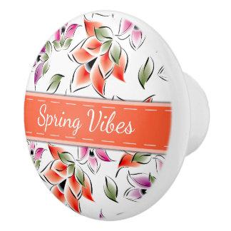 Frühlings-Schwingungen, mit Blumen Keramikknauf