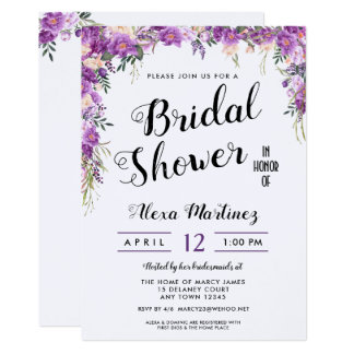 Spring Summer Floral Top Bridal Shower Invitation