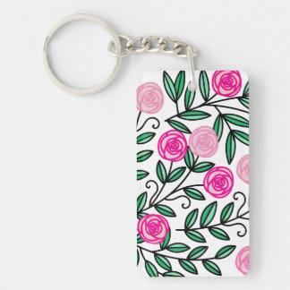 Frühlings-Sommer-bunter rosa Blumenspaß und Schlüsselanhänger
