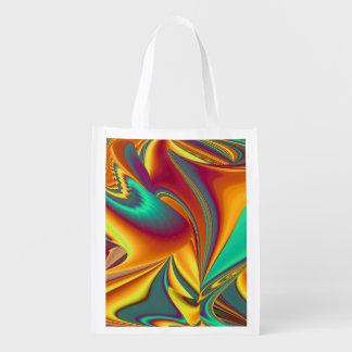 Frühlings-Sommer-Herbst-Blumen magisch Wiederverwendbare Einkaufstasche