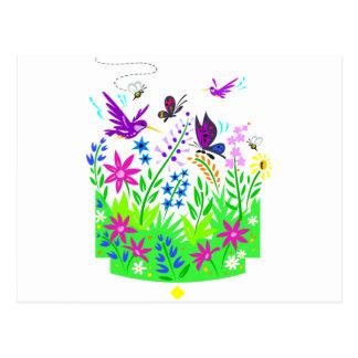 Frühlings-Tier-Szene Postkarte