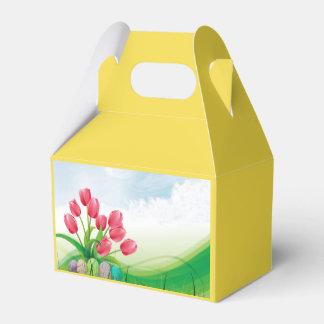 Frühlings-Tulpen und Ostereier Geschenkschachtel