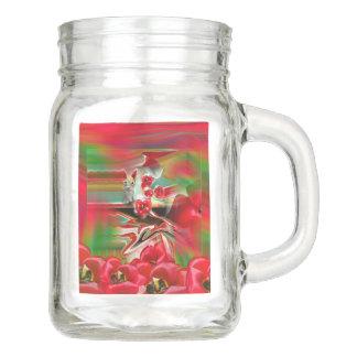 Frühlings-Wiederbelebungs-abstrakte Ostern-Kunst Einmachglas