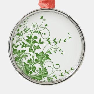 Frühlings-Wiese Silbernes Ornament