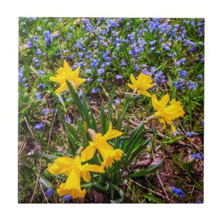 Frühlings-Wildblumen Keramikfliese