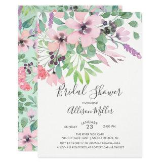 Frühlings-Zeit-Blumen-Brautparty-Einladung Karte