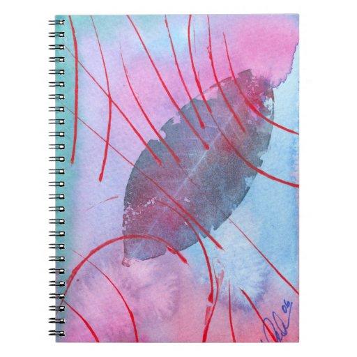 Frühlingsblatt abstrakt notizbuch
