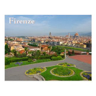 Frühlingsblüte in Florenz Postkarte