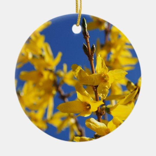 Frühlingsbote Rundes Keramik Ornament