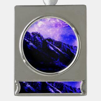 Frühlingshaftes Matanuska Banner-Ornament Silber