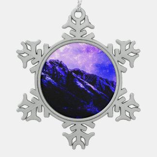 Frühlingshaftes Matanuska Schneeflocken Zinn-Ornament