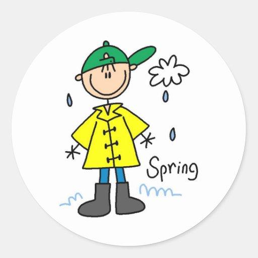 Frühlingsregen Sticker