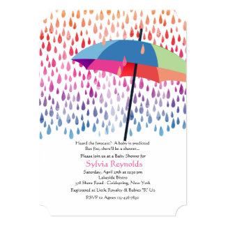 Frühlingsregen-Babyparty-Einladung