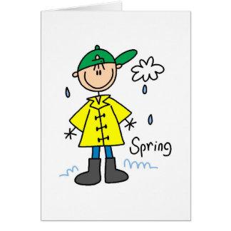 Frühlingsregen Karte