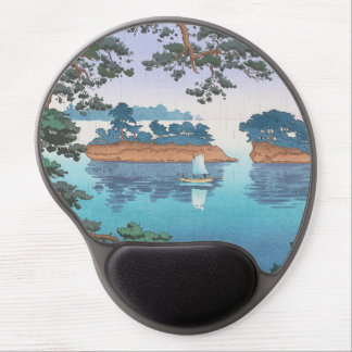 Frühlingsregen, Matsushima japanische waterscape Gel Mouse Matte