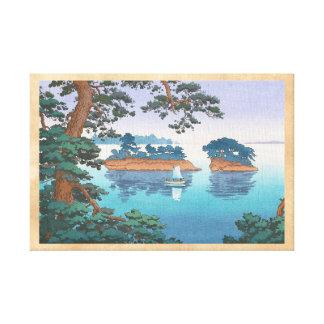 Frühlingsregen, Matsushima japanische waterscape Leinwand Drucke