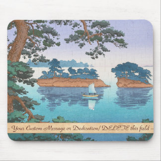 Frühlingsregen, Matsushima japanische waterscape Mauspad