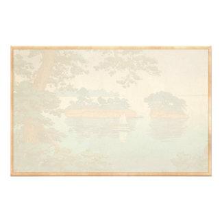 Frühlingsregen Matsushima japanische waterscape Personalisiertes Druckpapier