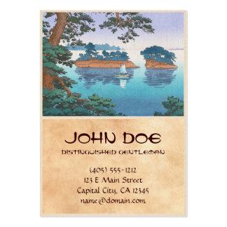 Frühlingsregen, Matsushima japanische waterscape Visitenkarten