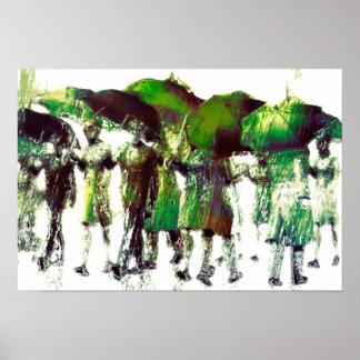 Frühlingsregen Poster