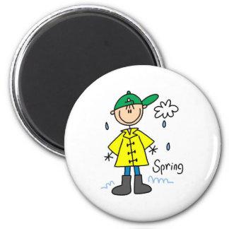 Frühlingsregen Runder Magnet 5,1 Cm