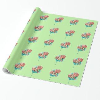 Frühlingsschädel Geschenkpapier
