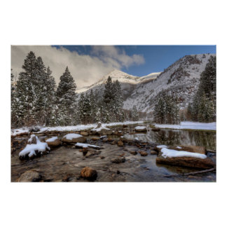 Frühlingsschnee, Sierra Nevada, CA Poster