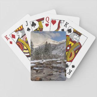 Frühlingsschnee, Sierra Nevada, CA Spielkarten