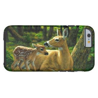 Frühlingwhitetail-Kitz und Mutter-Rotwild Tough iPhone 6 Hülle