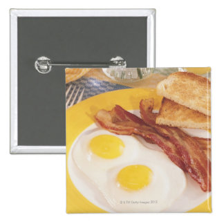 Frühstück 2 quadratischer button 5,1 cm