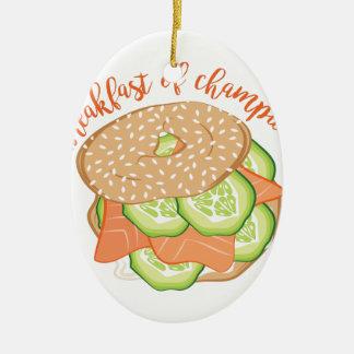 Frühstück der Meister Ovales Keramik Ornament