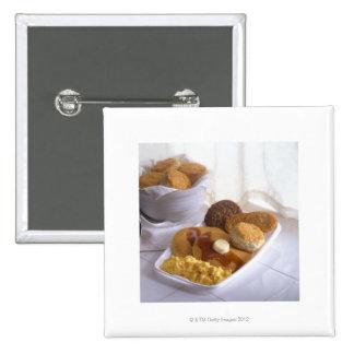 Frühstück kombiniert quadratischer button 5,1 cm