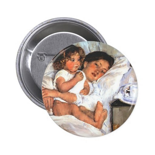 Frühstück Marys Cassatt- im Bett Button