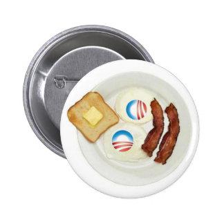 Frühstück Pro-Obama 2012 Runder Button 5,1 Cm