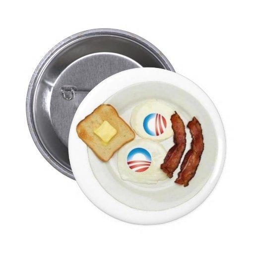 Frühstück Pro-Obama 2012 Anstecknadelbutton