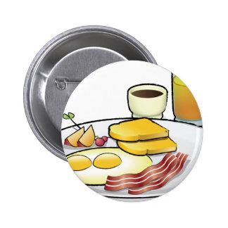 Frühstück Runder Button 5,7 Cm