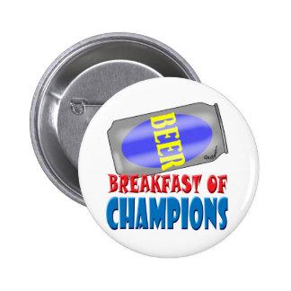 Frühstücks-Bier Anstecknadelbuttons