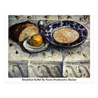Frühstücks-Buffet durch Paula Modersohn-Becker Postkarte