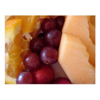Frühstücks-Frucht Postkarte