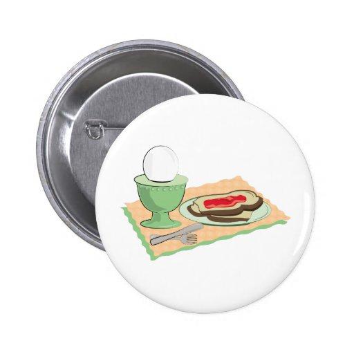 Frühstücks-Nahrungsmittel Anstecknadelbutton