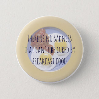 Frühstücks-Nahrungsmitteleier auf Platten-lustigem Runder Button 5,7 Cm