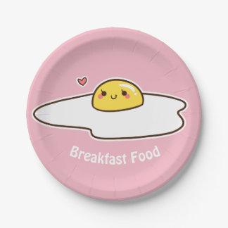 Frühstücksnahrung Pappteller