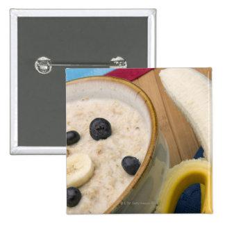 Frühstücksnahrung Quadratischer Button 5,1 Cm