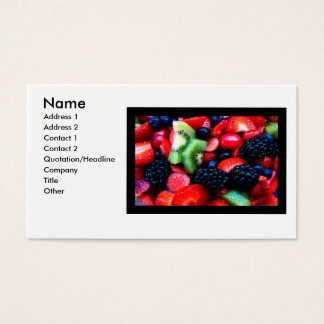 Fruit_salad - besonders angefertigt visitenkarte